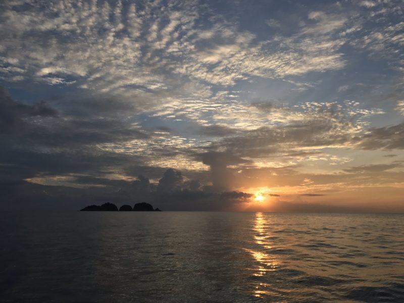 Scuba Diving Divemaster Diarys Sunset Malaysia Ocean